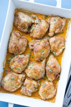 How to make Easy Baked Chicken Thighs.