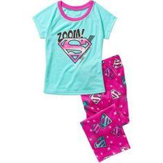 Supergirl-dc Comisc Licensed Girls Sleepwear, Blue