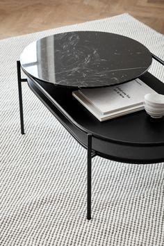 Table Furniture, Cool Furniture, Modern Furniture, Furniture Design, Black Marble, Marble Top, Coffee Table Design, Center Table, Furniture Inspiration