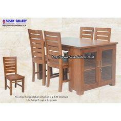 Meja makan multifungsi, terdapat pintu dibagian pinggi meja untuk menaruh piring atau gelas