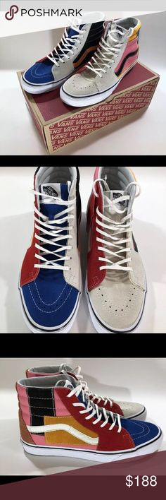 4aebbb807d26c0 Vans sk8 patchwork Stylish and rare sold out online Vans Shoes Sneakers Vans  Sk8