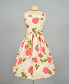 Vintage 1960s Party Dress...YOUTH FAIR JUNIORS Cotton by deomas, $125.00