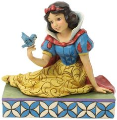 Jim Shore for Enesco Disney Traditions Snow White with Bird Figurine, 5.25-Inch
