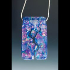 Dichroic Pendant Inner Path Large Rectangle by UnicornsCreations