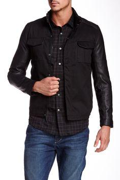 Mock Neck Raglan Sleeve Jacket