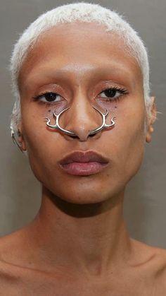 Lip Piercing, Septum Ring, Piercings, Face Jewellery, Jewelry, Cybergoth, Costume Makeup, Poses, E Design