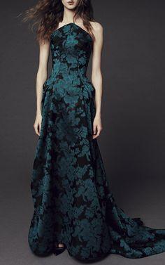 Floral Jacquard Gown by Zac Posen | Moda Operandi