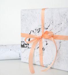 Geschenkpapier Marmor van  GuteGaben   op DaWanda.com