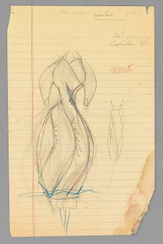 Sketch, Charles James, 1952; paper, graphite, wax. - The Metropolitan Museum of Art  (2009.300.3608)