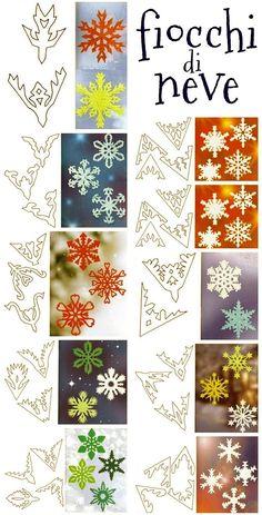 Cristalli di neve di carta