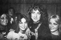 Robert Plant with Lita Ford, Joan Jett and Cheri Curry, Los Angeles, 1976