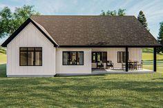 Simple Farmhouse Plans, Modern Farmhouse Style, Rustic Farmhouse, Modern Cottage, House Plans 3 Bedroom, Cottage Plan, Cottage Style, Best House Plans, Story House