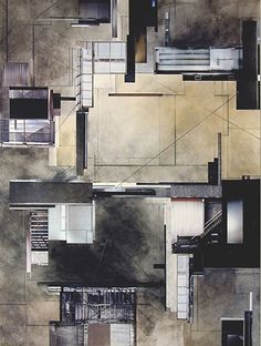 Ginny Herzog - Architectural Collage Architecture Site Plan, Architecture Collage, Architecture Graphics, Architecture Drawings, Architecture Details, Neoclassical Interior, Layout Design, Facade Design, Technical Drawing