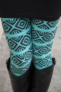 Diamond Turquoise Leggings