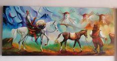 Paisaje quijote al óleo Painting, Modern Paintings, Artworks, Scenery, Art Production, Painting Art, Paintings, Painted Canvas, Drawings