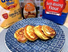 Easy, tasty and delicious these Hoe Cakes are a fun side dish to go with your dinner time meal, a snack to nosh on or breakfast to devour. Dishes To Go, Side Dishes, Southern Recipes, Southern Food, Hoe Cakes, Flavored Butter, Self Rising Flour, Bacon Bits, Melted Cheese
