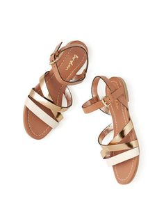 Love the mix of neutrals - Colourblock Sandal AR663 Sandals at Boden
