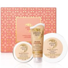 Planet Spa Blissfully Nourishing 3-Piece Gift Set-Pamper yourself or someone you love with our online exclusive 3-piece  gift set. Regularly $28.00, buy Avon Bath & Body online at http://eseagren.avonrepresentative.com