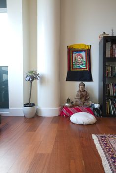 Meditation Space. Proof that you don't need a lot of space.