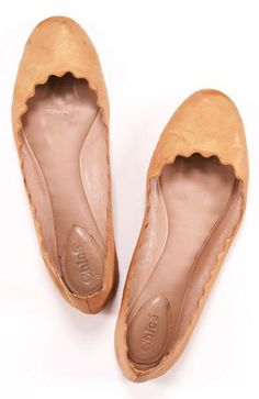 leather ballet flats...