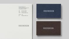 Logo, headed paper and business cards for Illinois based Hedeker Wealth & Law by Socio Design