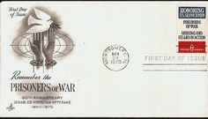 1970 Remember the Prisoner of War, Anniversary DAV Cincinnati OH- Film Up, Cinderella And Prince Charming, American Veterans, Lake Worth, Prisoners Of War, First Day Covers, Us National Parks, Us Military, 50th Anniversary