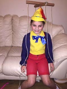 Fancy dress ideas. Pinocchio. Dress up. Childrens fancy dress. Homemade by me