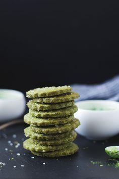 Gluten-free Matcha Shortbread Cookies - Snixy Kitchen