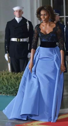 Michelle Obama in Carolina Herrera haute couture --- i NEED this dress!