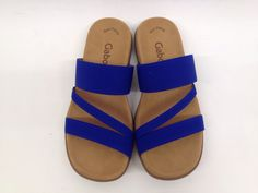 Gabor slippers kobalt blue!