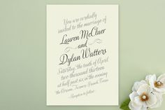 Just My Type Wedding Invitations by Ann Gardner at minted.com