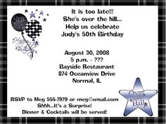 Free FREE Template 50th Birthday Party Invitation Template