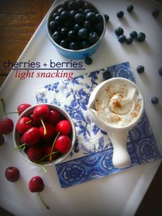 Cherries and Berries with Coconut Whip #vegan #healthyeating