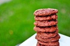 chewy red velvet cookies: made these tonight...they are awesome!!  left out the chocolate chips because we wanted a basic red velvet cookie...so chewy!