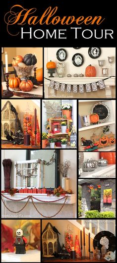 Halloween Home Tour.. come and get Halloween decorating ideas for inside and out.   #TheKimSixFix