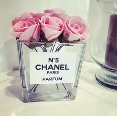 chanel, pink, roses, flowers and parfum