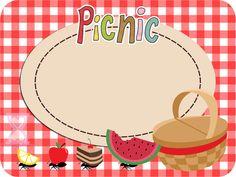Picnic: Tarjetas y Etiquetas para Candy Bar para Imprimir Gratis.