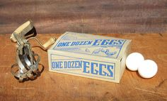 Vintage Unused Paper Egg Box or Carton with Great Farmhouse Graphics of Chickens, Hens, and a Barn. This would Make Great Home Decor for a Country Home $10.00