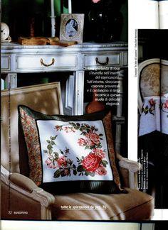 Gallery.ru / Фото #5 - Скатерть, подушка с розами - homjchok