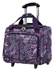 Mar Vista's rolling tote is a perfect complement to your luggage collection. Interior pockets provide packing organization and is a great carry-on bag for airline travel.