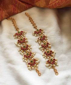 Jewelry Design Earrings, Gold Earrings Designs, Necklace Designs, Jewellery Designs, Designer Earrings, Fancy Jewellery, Stylish Jewelry, Fashion Jewelry, Indian Jewelry Sets