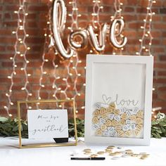 Le Prise Barlow Heart Drop Guest Book Color: Silver, Letter: Y Wedding Wishes, Wedding Day, Dream Wedding, Wedding Stuff, Blue Wedding, Wedding Things, Wedding Reception, Lillian Rose, Congratulations And Best Wishes