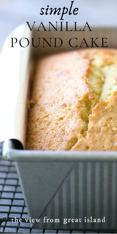 Triple Vanilla Pound Cake not one not two but three layers of intense vanilla flavor to excite even the most serious vanilla fans easy recipe pantry cake vanilla poundcake dessert vanillabeancake coffeecake loafcake snackcake baking moist best Original Pound Cake Recipe, Vanilla Pound Cake Recipe, Vanilla Bean Cakes, Pound Cake Recipes, Easy Cake Recipes, Best Dessert Recipes, Quick Pound Cake Recipe, Vanilla Baking Recipes, Easy Pound Cake