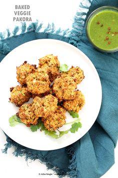 Mixed Vegetable Pakora Baked