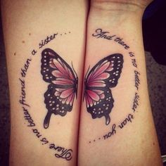 Tattoos For Mother And Daughter Butterfly 60 matching sister tattoo ...