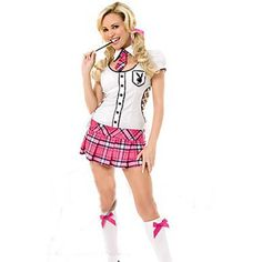Fancy Women Temptation Pink Black Sexy Bad Girl Pirate Costume for Halloween