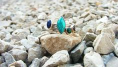 Turquoise ring.Jewelry.Sterling silver ring.stacking by shpirulina