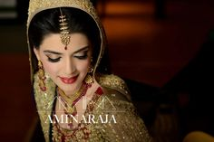 taupe and red - pakistani bride
