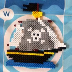 Pirate ship beads, perles hama
