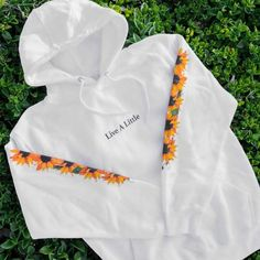 This hoodie features an embroidered chest design along with a color-printed design down the sleeves. Stylish Hoodies, Comfy Hoodies, Sweatshirts, Cheap Hoodies, Aesthetic Hoodie, Aesthetic Clothes, Cute Lazy Outfits, Cool Outfits, Teen Fashion Outfits